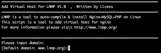 LNMP添加、删除虚拟主机及伪静态使用教程