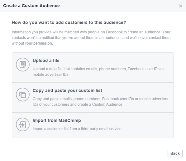 "Facebook广告的人群定位""custom audience"""