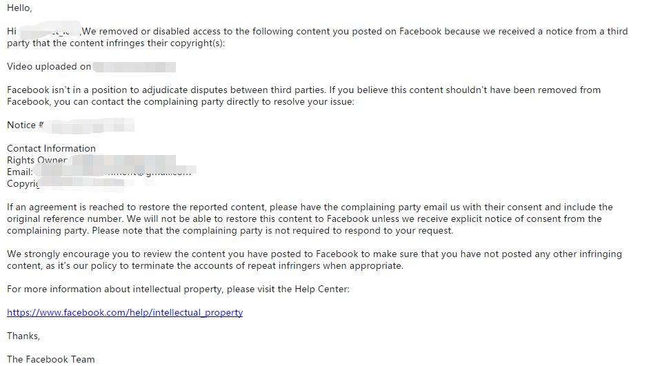 Facebook 封号解封 DMCA & Adsense&Amazon