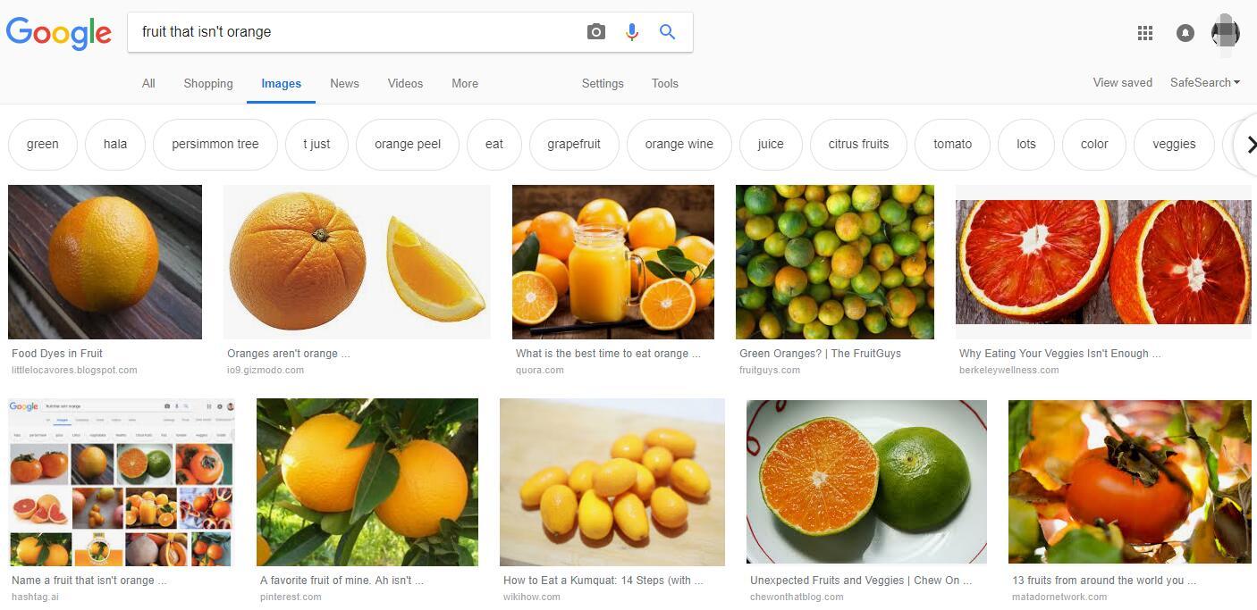 不是橙色的水果