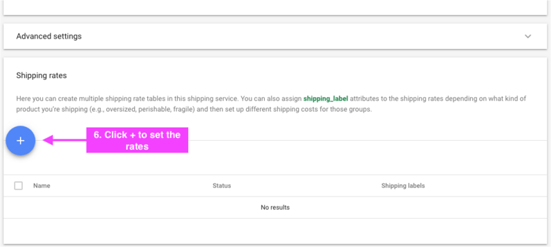 Google Merchant Center Shipping 信息设置