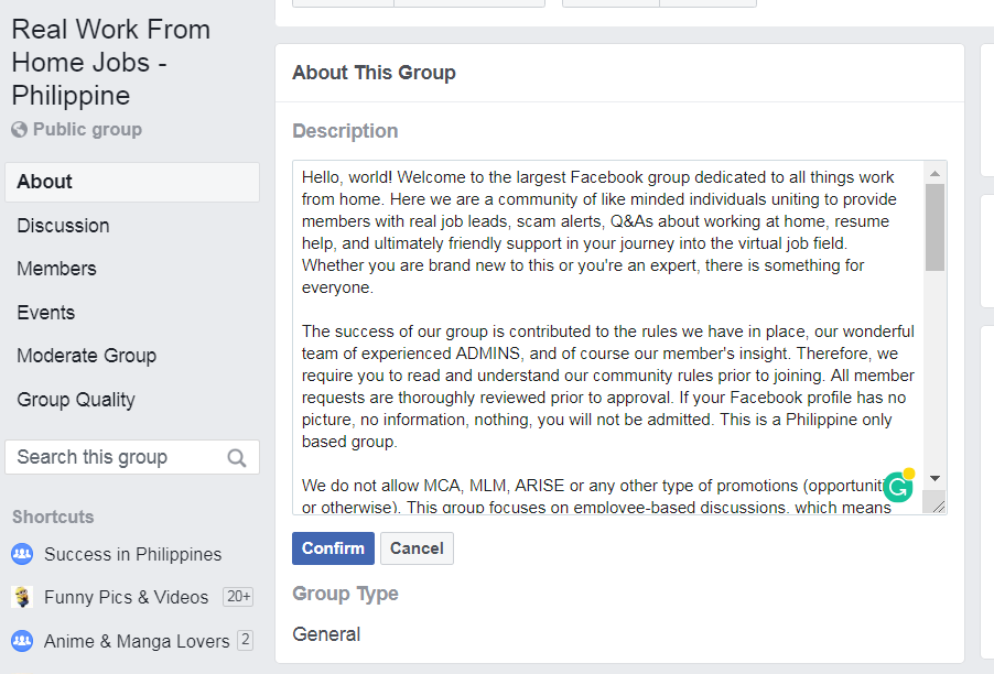 Facebook Group 指南